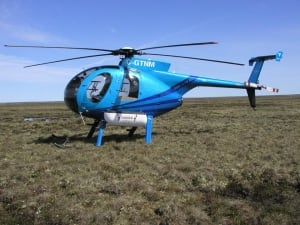 Helicopter on the tundra
