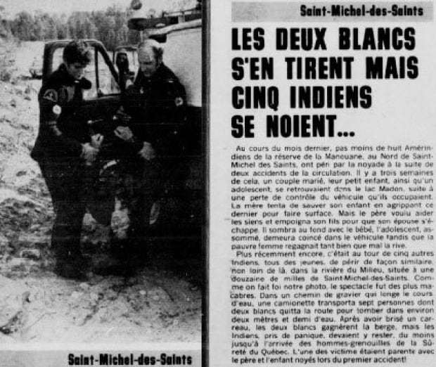 Newspaper story, Manawan accident, 1977