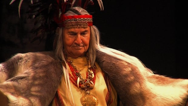 Actor August Schellenberg as King Lear in an all-aboriginal production of the play at the National Arts Centre in 2012.