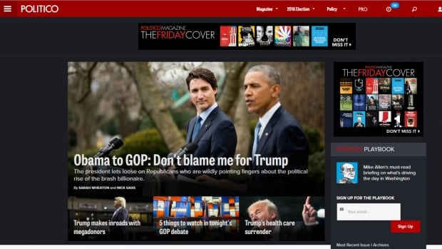Justin Trudeau's official visit to Washington generated huge coverage by American media outlets on Thursday, with photos and videos of the prime minister splashed prominently across U.S. news websites.
