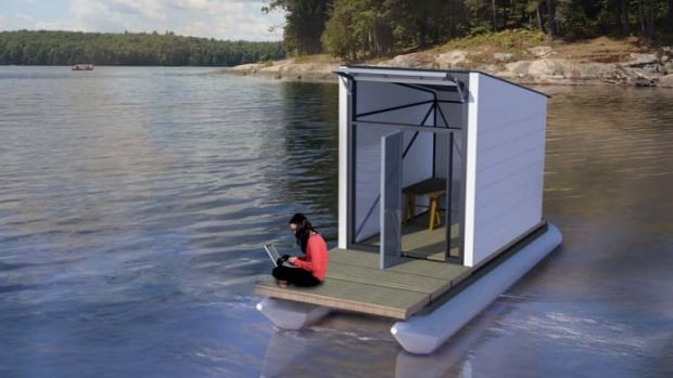 Sioux Narrows-Nestor Falls is building tiny studios with hopes of attracting artists to the township. One of the versions will be a floating studio.