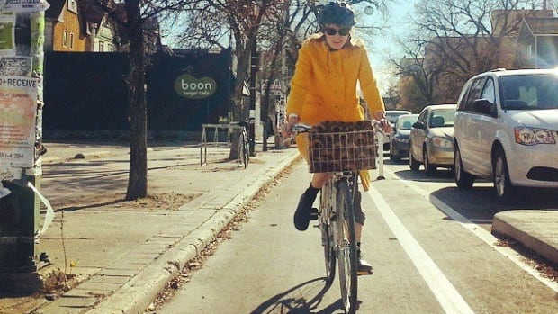 Vehicle-protected bike lanes line a portion of Sherbrook Street in Winnipeg. Public works chair Marty Morantz suggested at a committee meeting Tuesday that protected lanes do little to prevent accidents.