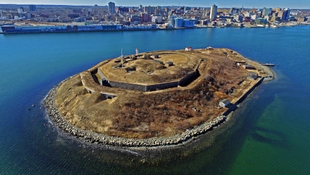 Robert Hyslop used a drone last month to take photographs of Georges Island in Halifax Harbour.