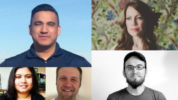 Meet CBC Saskatchewan's first, five Future 40 winners of 2016: James Dennis, Melanie Hankewich, Nicholas Olson, Evan Taypotat, Sneha Chakraborty.