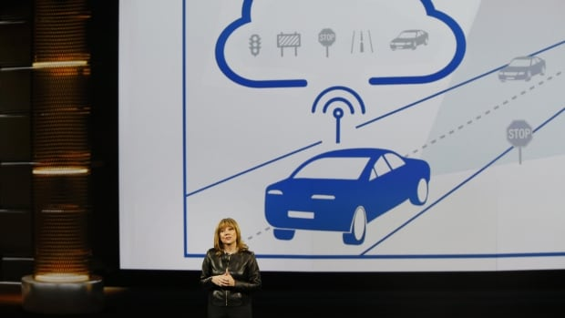 GM CEO Mary Barra showed off the company's latest self-driving technology at the recent Consumer Electronics Show in Las Vegas. The company just bought Cruise Automation, a San Francisco self-driving vehicle startup.