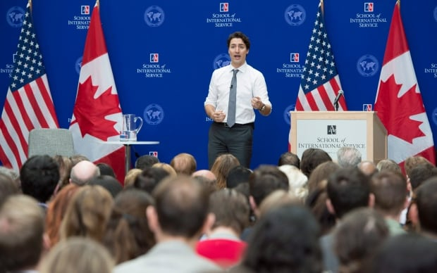 Trudeau speaks to American University students