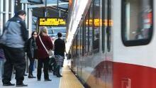 Calgary 6155 transit LRT C-Train public station