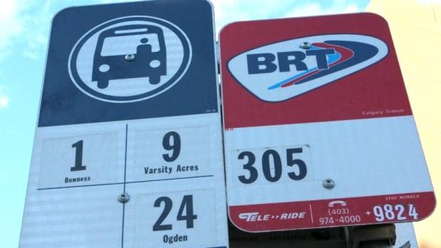 Calgary 6155 bus stop transit