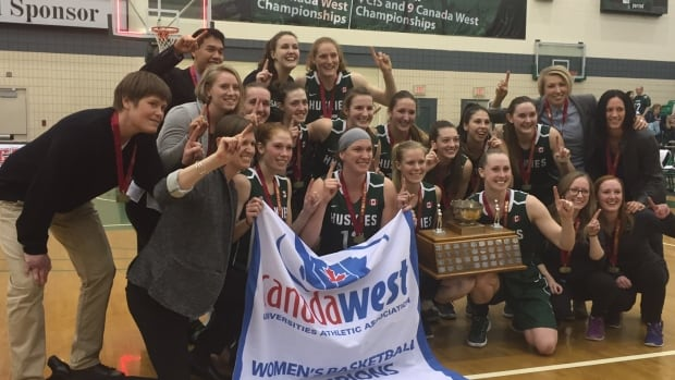 The University of Saskatchewan Huskies women's basketball team are the Canada West champions.