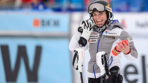 Lara Gut of Switzerland has plenty to call home about as she became the overall world cup champion after finishing third in the combined race in Lenzerheide, Switzerland on Sunday.