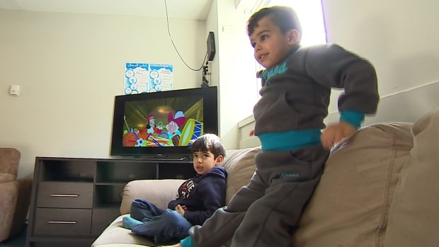 Syrian refugee children resettling in Manitoba play at Welcome Place earlier this month. Wesley Urban Ministries says it's reaching out to Toronto-landed refugees who have chosen to come to Hamilton instead.