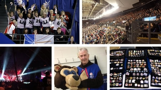 The Brier is packed with traditions: fans dressing up, pin trading, the Patch, mascots and more. Twitter/CurlingCanada, Reuters/Chris Wattie