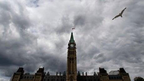 Parliament Hill clouds peace tower ottawa