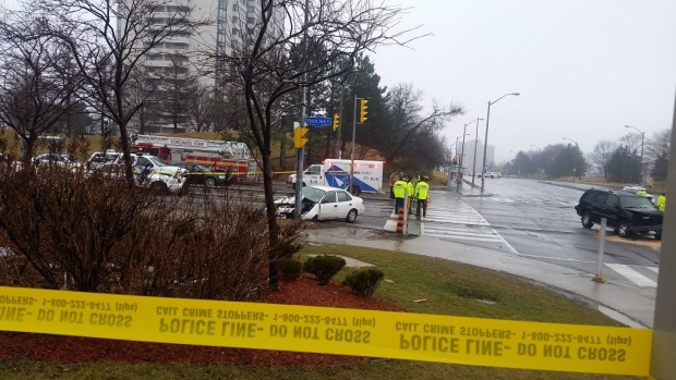 A serious collision in the area of Don Mills Road and Finch Avenue West has sent four people to a trauma centre.