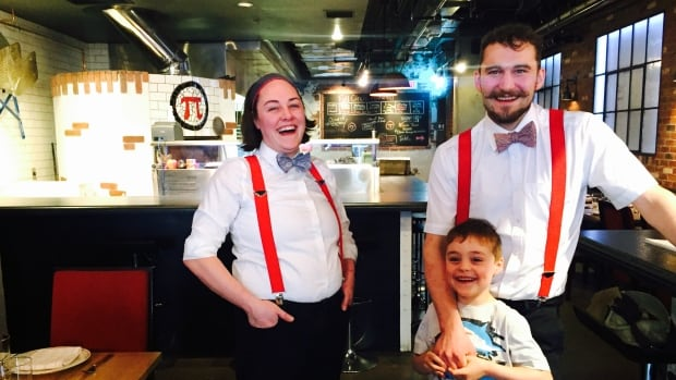 Amelia and Josh Stoddart (seen with son Frankie) are co-owners of Full Circle Pizza & Oyster Bar, which celebrates its belated grand opening on Pi Day.