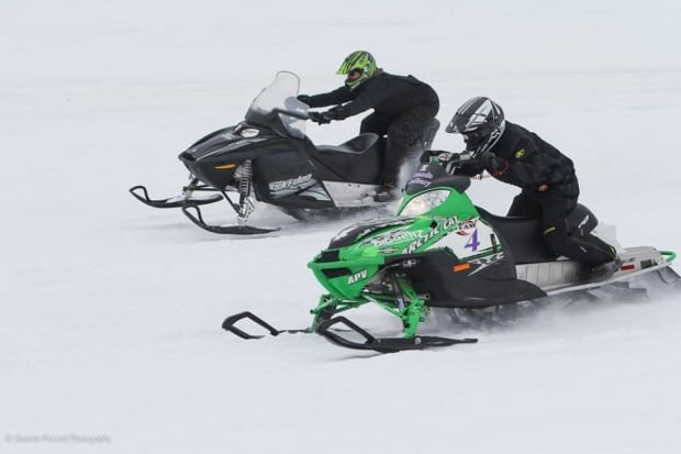 Snowmobile drag races