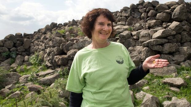 Laurie Rimon found this gold coin while she was hiking with friends at an archaeological site.