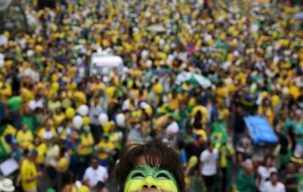 BRAZIL-anti-ROUSSEFF PROTESTS Sao Paulo March 13 2016