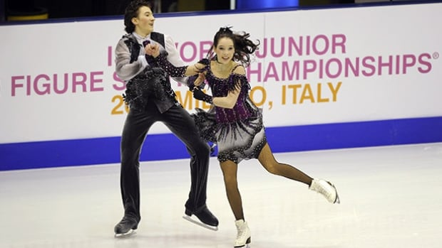 Americans Lorraine McNamara, right, and Quinn Carpenter are the team to beat in the pairs event of the world junior championships.