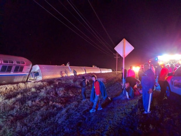 APTOPIX Train Derailment Kansas