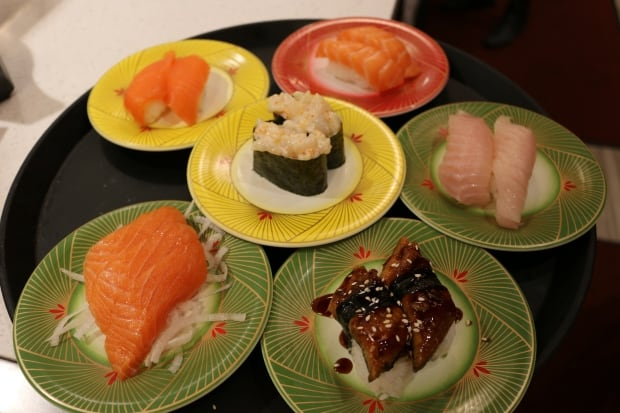 sample of sushi at Kinjo Sushi & Grill