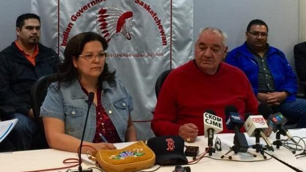 FSIN Vice Chief Kimberley Johnathan and FSIN Senate Chair Ted Quewezance from the Federation of Saskatchewan Indian Nations are calling on three levels of government to help support Saskatchewan First Nations deal with a mental health crisis.
