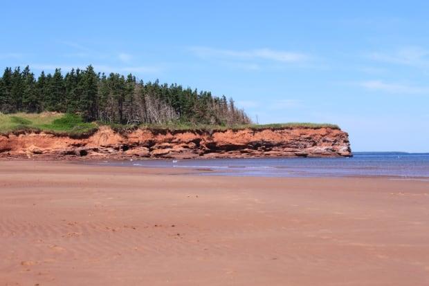 P.E.I. red sands beach