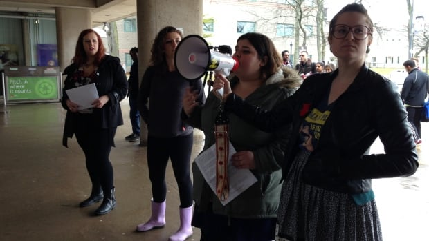 "Protesters at Brock University on Tuesday issued a list of demands for the university, including a ""student-centred"" sexual assault policy and the resignations of both the  professor in question and the administrator who handled the complaint."