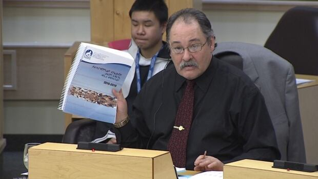 'I see a lot of errors in the business plan,' Tununiq MLA Joe Enook said in Inuktitut. 'Sometimes what I read here is very wrong.'