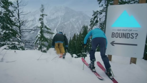 A Coors Light ad shows skiers going out of bounds.