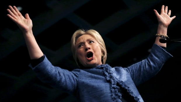 Democratic U.S. presidential candidate Hillary Clinton waves as she speaks to supporters at a campaign rally in West Palm Beach, Fla., on Tuesday.
