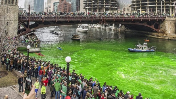 The city of Chicago has dyed the Chicago River green every year since 1962 to celebrate St. Patrick's Day.