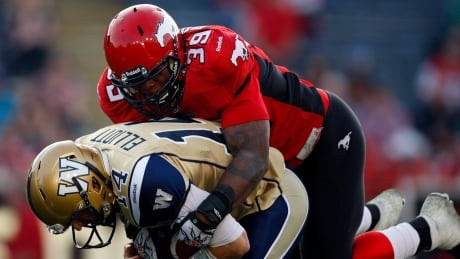 Roughriders acquire former Stampeders defensive lineman Charleston Hughes from Ticats thumbnail
