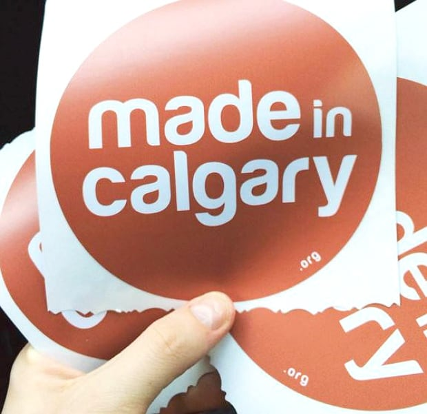 made in calgary stickers