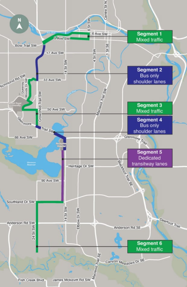 Southwest BRT map