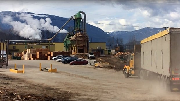 The city of Salmon Arm was temporarily forced to stop using water from its primary intake on Shuswap Lake following a run-off containing glue and fuel products from this mill