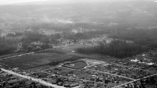 What Whalley Ballpark looked like in 1954.