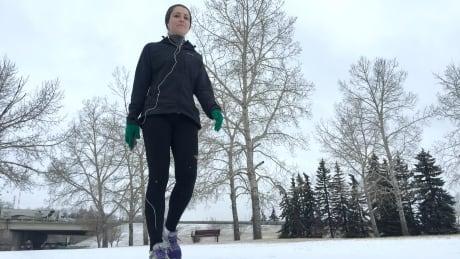 Calgary runner snow