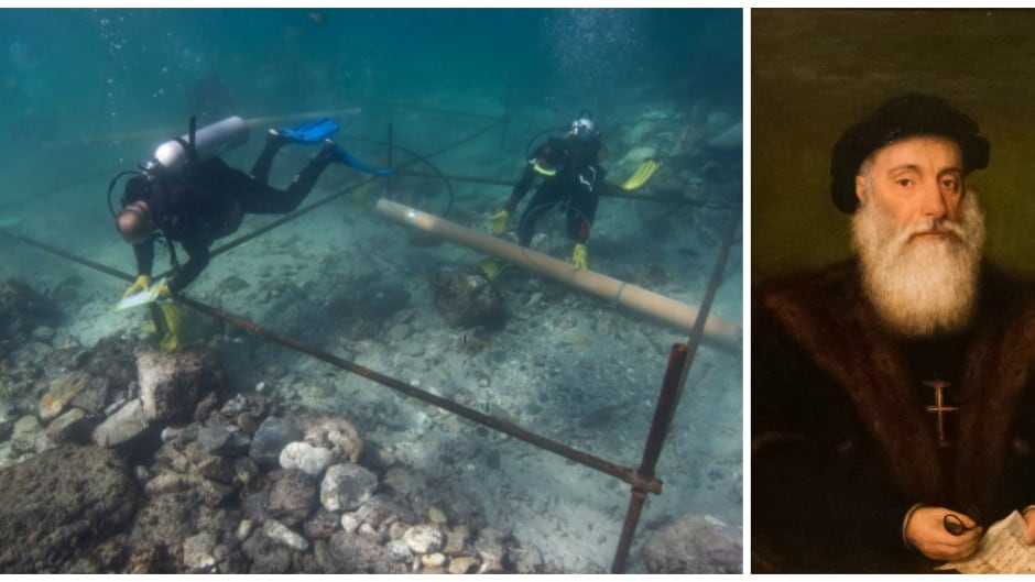 A shipwreck believed to be from fleet of legendary Portuguese explorer Vasco da Gama has been excavated off the coast of Oman.
