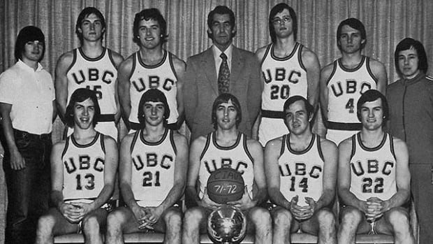 UBC's 1972 men's basketball team. 1972 was the last time UBC hosted the CIS championships — and it was particularly sweet, as UBC won the tourney.