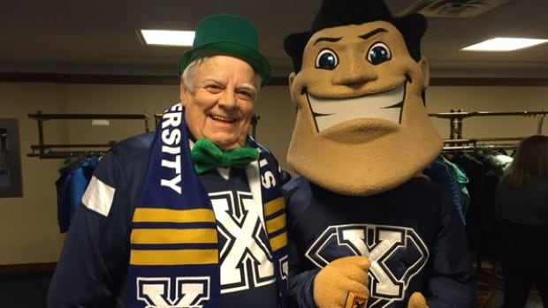 Bill Kiley, class of 1967, supported the hockey team Thursday evening.