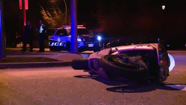 The crash happened near Shaughnessy Street and West 70th Avenue in Vancouver, just before 1:30 a.m. Friday.