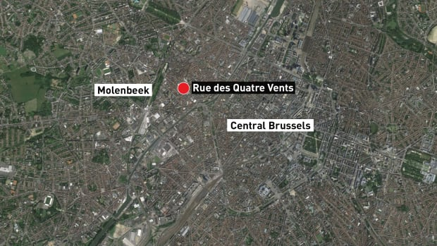 Belgium raids map Tue des Quatre Vents
