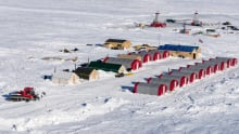 A camp at the Kennady North diamond exploration project 280 km northeast of Yellowknife