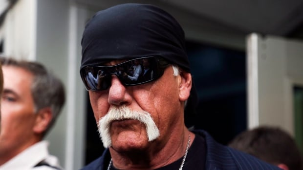 Hulk Hogan, whose given name is Terry Bollea, walks out of a St. Petersberg, Florida, courthouse on March 18, 2016, after being awarded $115 million US in damages in his lawsuit against the gossip website Gawker.