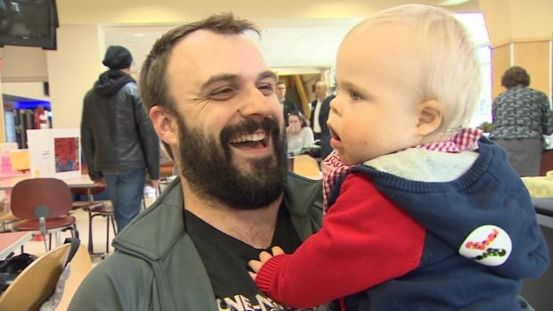 Graham Rose says his 13-month-old son, Aidan, loves to play and grab at things.