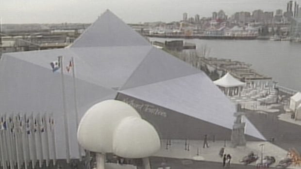The N.W.T. pavilion was 7,000 square feet and shaped like an iceberg.