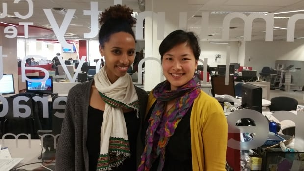 Transracial adoptees Kassaye MacDonald and Manuelle Alix-Surprenant both grew up in white Quebecer families.