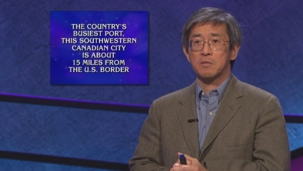 Jeopardy! contestant Phlip Tiu struggles to decide if the answer to his $19,000 Daily Double wager is Victoria or Vancouver. He guessed Vancouver and was right.