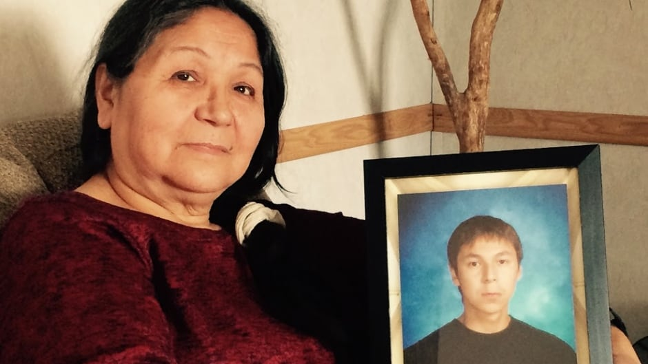Maryanne Panacheese, Mishkeegogamang member and mother of Paul Panacheese (in photo) who died in Thunder Bay, while attending Dennis Franklin Cromarty High School in 2006.